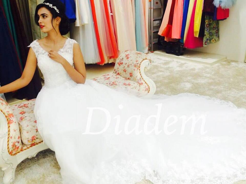 Best A-line Crystal Wedding Gowns in Chennai Diadem Bridal-Chennai ...